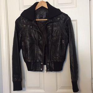 Jackets & Blazers - Kenzo Jeans Faux Leather Moto Jacket